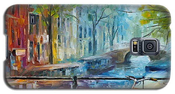Town Galaxy S5 Case - Bicycle In Amsterdam by Leonid Afremov