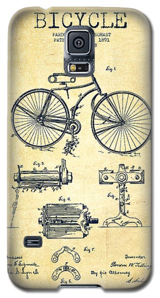 Bicycle Patent Drawing From 1891 - Vintage Galaxy S5 Case by Aged Pixel