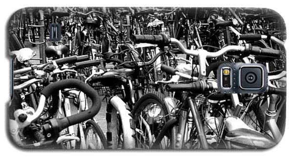 Galaxy S5 Case featuring the photograph Sea Of Bicycles- Karlsruhe Germany by Joey Agbayani