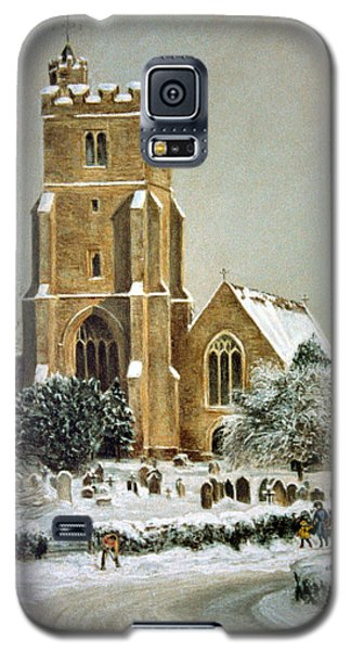 Galaxy S5 Case featuring the painting Biddenden Church by Rosemary Colyer