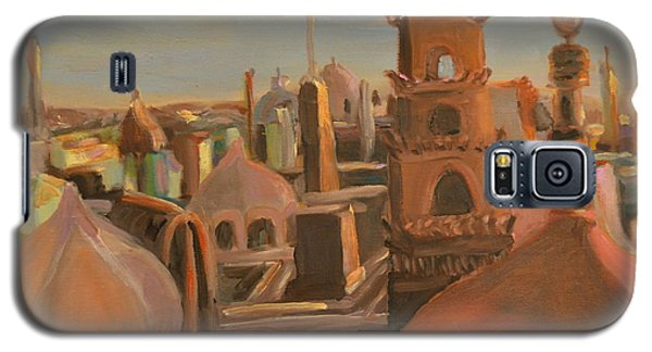 Galaxy S5 Case featuring the painting Bienvenue Au Caire by Julie Todd-Cundiff
