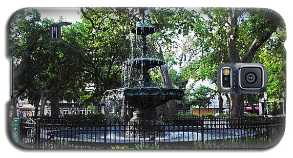 Bienville Fountain Mobile Alabama Galaxy S5 Case by Michael Thomas