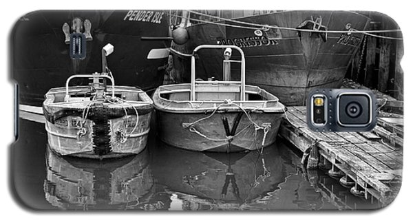 Galaxy S5 Case featuring the photograph Big And Little Boats by Maria Janicki