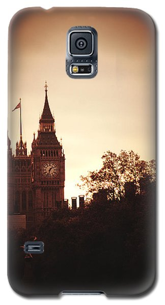 Big Ben In Sepia Galaxy S5 Case by Rachel Mirror