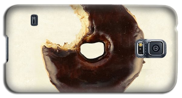 Galaxy S5 Case featuring the photograph Chocolate Donut With Missing Bite by Vizual Studio