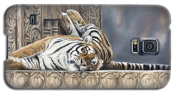 Big Cat Galaxy S5 Case by Lucie Bilodeau