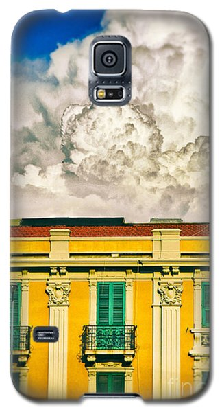 Galaxy S5 Case featuring the photograph Big Cloud Over City Building by Silvia Ganora