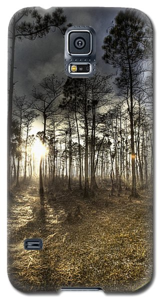 Galaxy S5 Case featuring the photograph Big Cypress Fire At Sunset by Bradley R Youngberg