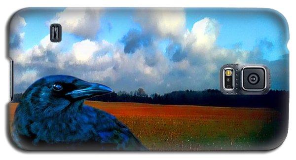 Big Daddy Crow Series Silent Watcher Galaxy S5 Case by Lesa Fine