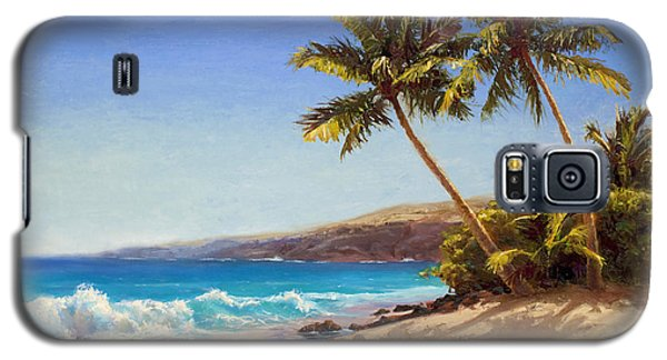 Hawaiian Beach Seascape - Big Island Getaway  Galaxy S5 Case