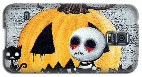 Big Juicy Tears Of Blood And Pain No. 11 The Great Pumpkin Galaxy S5 Case by Oddball Art Co by Lizzy Love