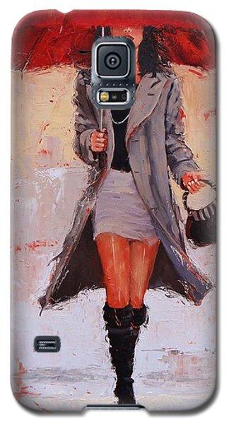 Big Red Galaxy S5 Case by Laura Lee Zanghetti
