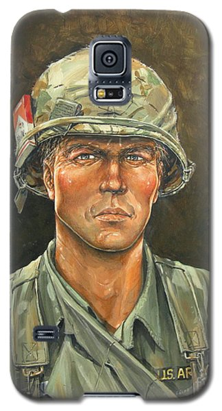 Galaxy S5 Case featuring the painting Big Red One 11bravo by Bob  George