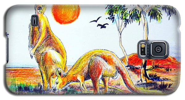 Galaxy S5 Case featuring the painting Big Reds Kangas by Roberto Gagliardi
