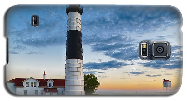 Galaxy S5 Case featuring the photograph Big Sable Point Lighthouse Sunset by Sebastian Musial