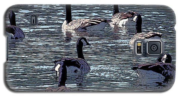Galaxy S5 Case featuring the digital art Big Spring Goose Art I   by Lesa Fine