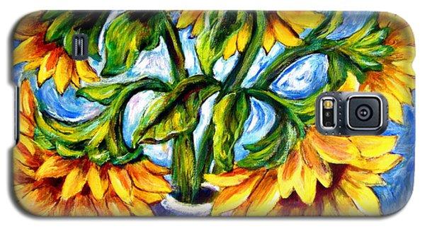 Big Sunflowers Galaxy S5 Case