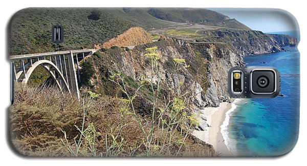 Galaxy S5 Case featuring the photograph Big Sur Bixby Bridge And Beach by Debra Thompson