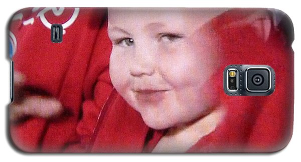 Galaxy S5 Case featuring the photograph Biggest Little Baseball Fan by Jeanette Oberholtzer