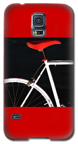 Bike In Black White And Red No 1 Galaxy S5 Case by Ben and Raisa Gertsberg
