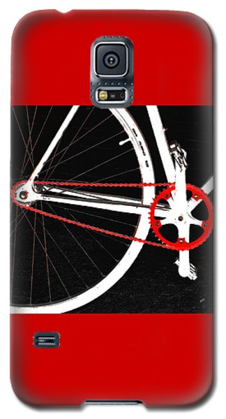 Bike In Black White And Red No 2 Galaxy S5 Case by Ben and Raisa Gertsberg