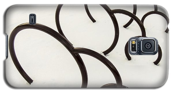 Bike Rack In Snow Galaxy S5 Case