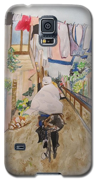 Bike Rider In Jerusalem Galaxy S5 Case by Esther Newman-Cohen