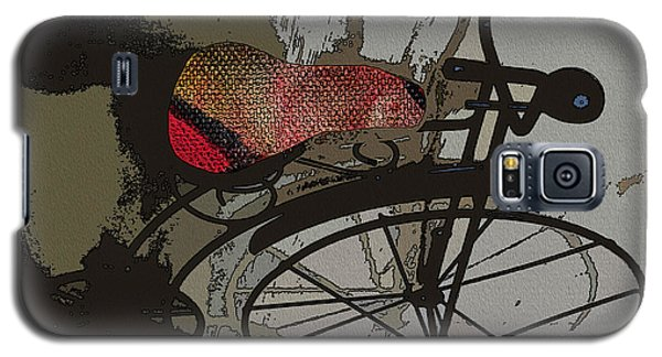 Galaxy S5 Case featuring the painting Bike Seat View by Ecinja