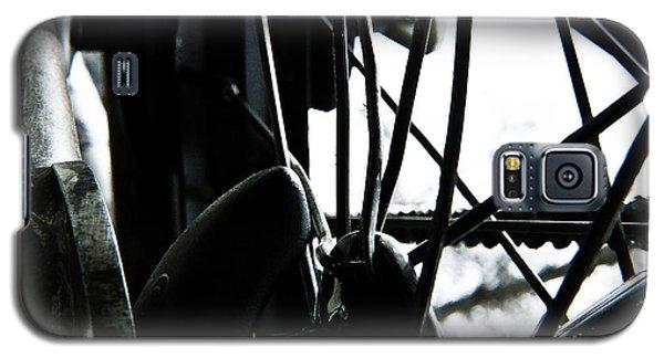 Galaxy S5 Case featuring the photograph Bike Wheel by Joel Loftus