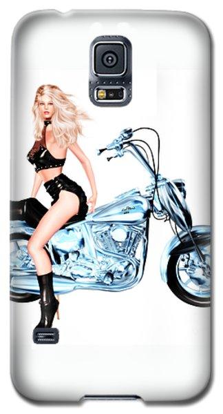 Biker Girl Galaxy S5 Case by Renate Janssen