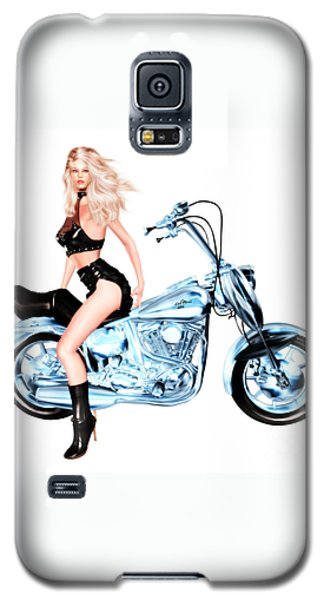 Biker Girl Galaxy S5 Case