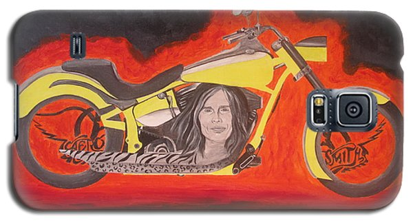 Galaxy S5 Case featuring the painting Biker by Jeepee Aero