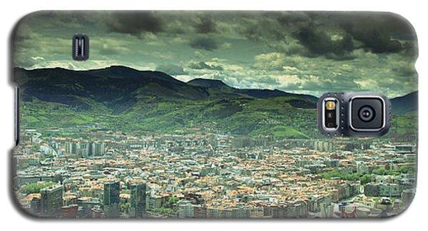 Galaxy S5 Case featuring the photograph Bilbao Panoramic  by Mariusz Czajkowski