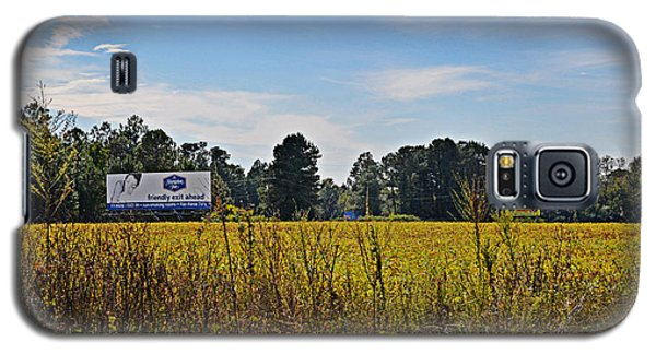 Billboards Over A Bean Field Galaxy S5 Case
