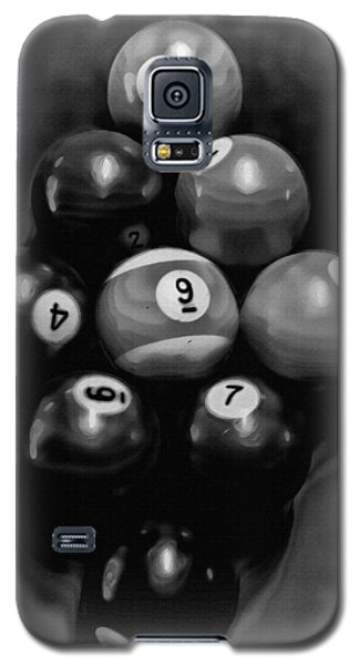 Billiards Art - Your Break - Bw  Galaxy S5 Case by Lesa Fine