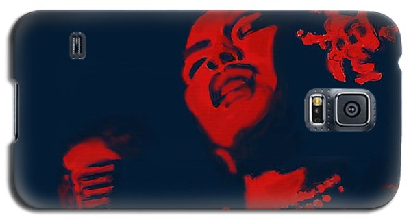 Galaxy S5 Case featuring the painting Billie Holiday by Vannetta Ferguson