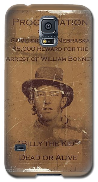 Billy The Kid Wanted Poster Galaxy S5 Case