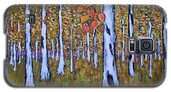 Galaxy S5 Case featuring the painting Birch Autumn by Zeke Nord