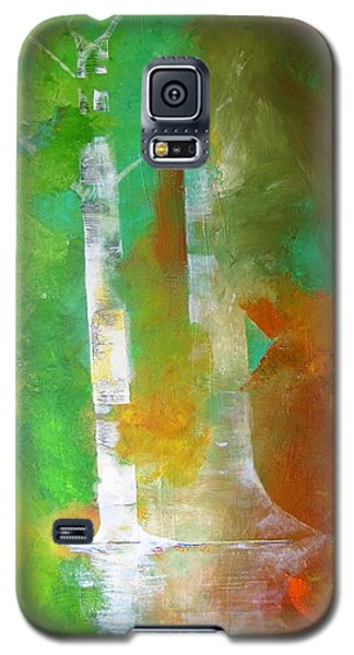 Galaxy S5 Case featuring the painting Birch In Fall Colors by Gary Smith