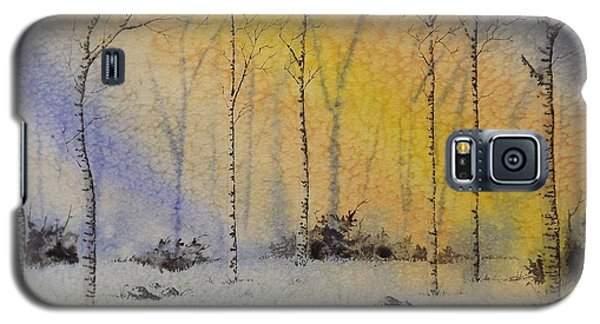 Galaxy S5 Case featuring the painting Birch In Blue by Richard Faulkner