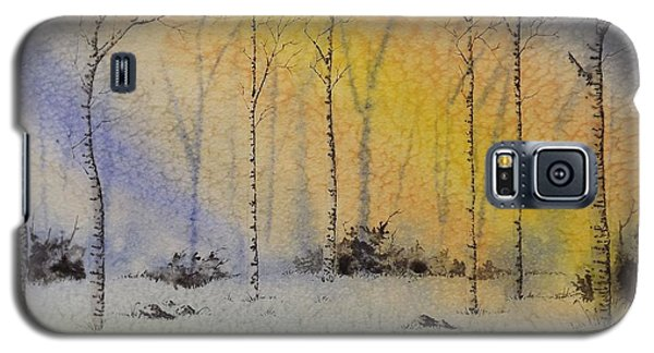 Birch In Blue Galaxy S5 Case by Richard Faulkner