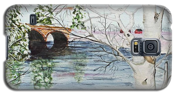 Galaxy S5 Case featuring the painting Birch Tree Crossing by Jack G  Brauer