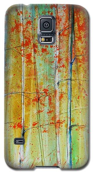 Birch Tree Forest Galaxy S5 Case