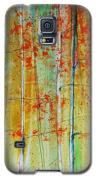 Birch Tree Forest Galaxy S5 Case by Jani Freimann
