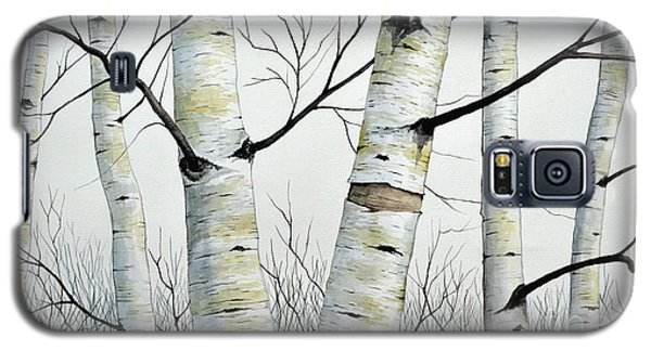Birch Trees In The Forest By Christopher Shellhammer Galaxy S5 Case