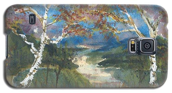 Birch Trees On The Ridge  Galaxy S5 Case