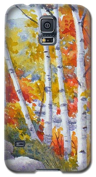 Birches Along The River Galaxy S5 Case