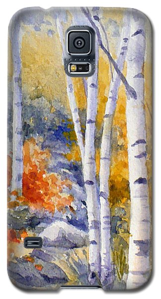Birches Along The Trail Galaxy S5 Case