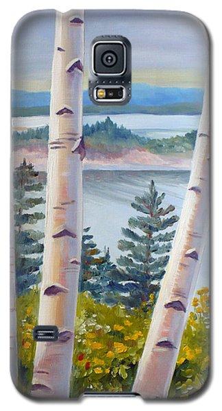Birches In Nova Scotia Galaxy S5 Case