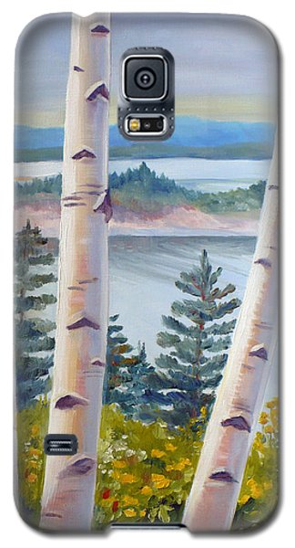 Birches In Nova Scotia Galaxy S5 Case